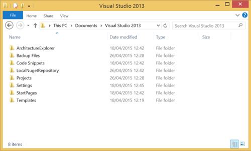 Local repository folder