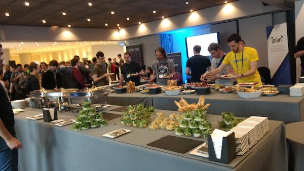 Food buffet at NCrafts