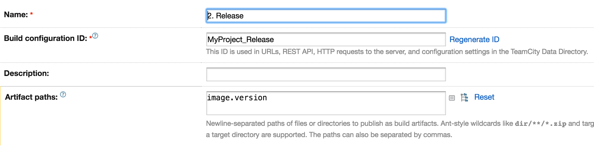 Release Configuration