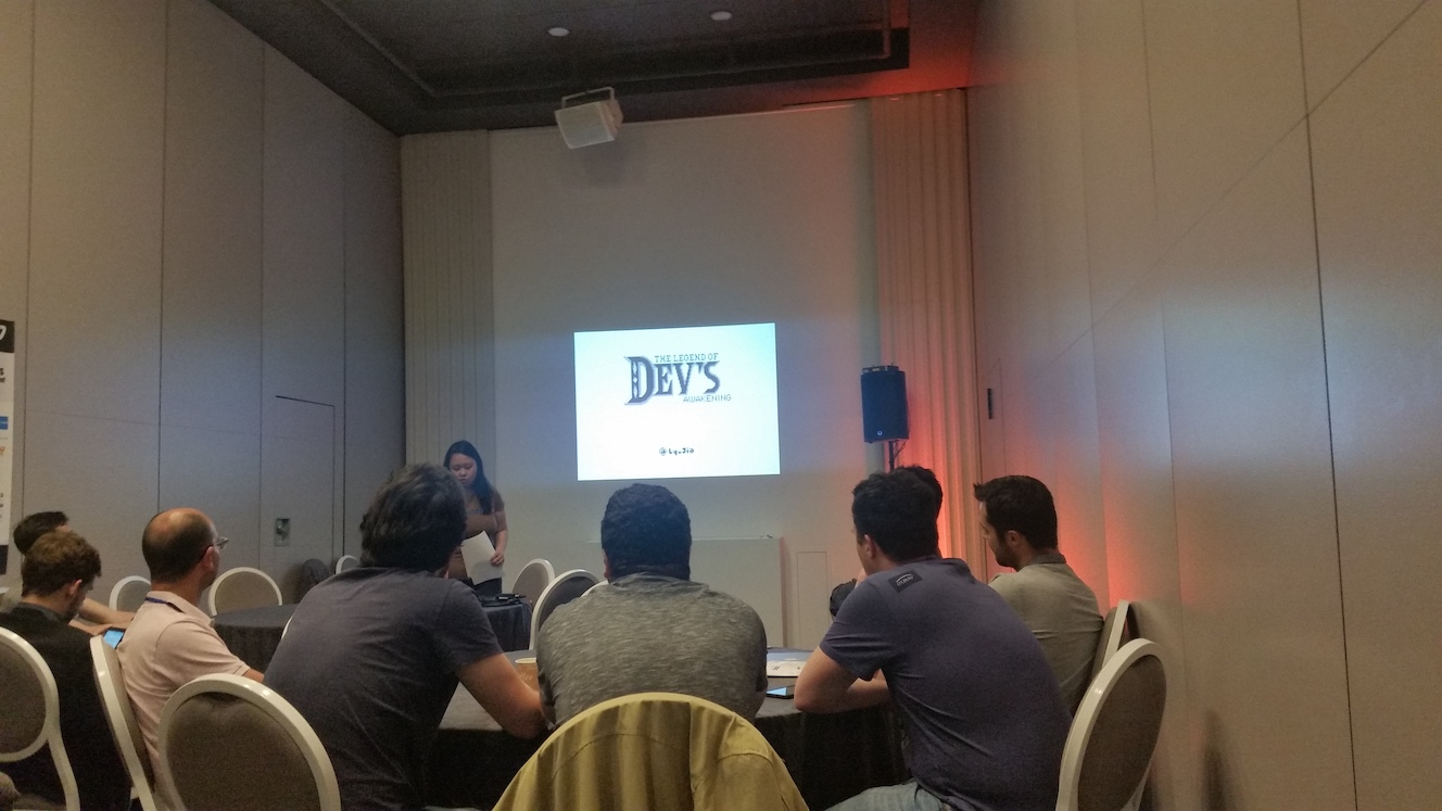 Ly-Jia Goldstein with 'The legend of Devs Awakening'